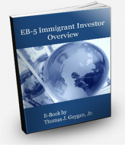 EB-5 Book Cover Landing page